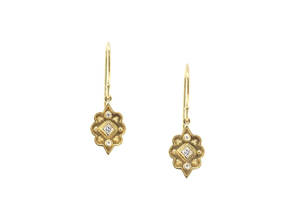 Amrapali Heritage Marquise Diamond Drop Earrings