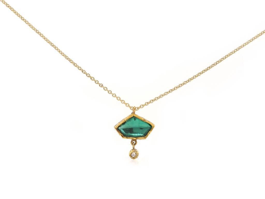 Trabert Goldsmiths Emerald Kite Pendant