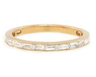 Trabert Goldsmiths Baguette Dia Half Eternity Gold Band GAM16