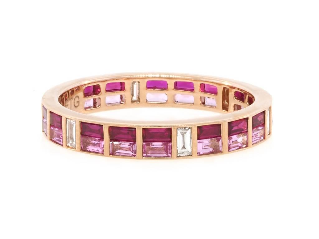 Trabert Goldsmiths Ruby and Pink Sapphire Diamond