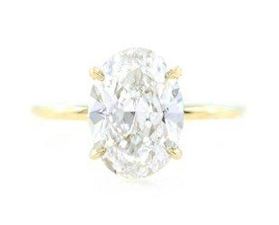Trabert Goldsmiths 3.01ct FSI2 Oval Diamond Aura Ring E1569