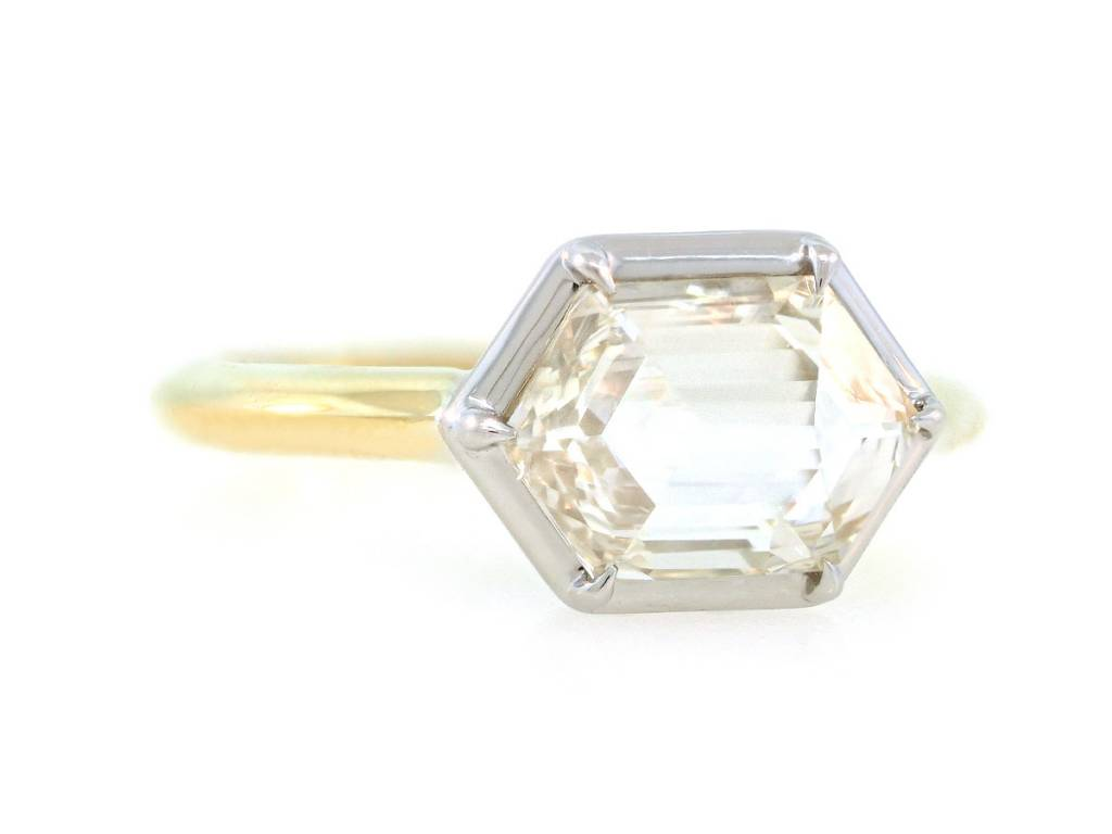 Trabert Goldsmiths 1.41ct LSI1 Hexagonal Diamond Stella Ring