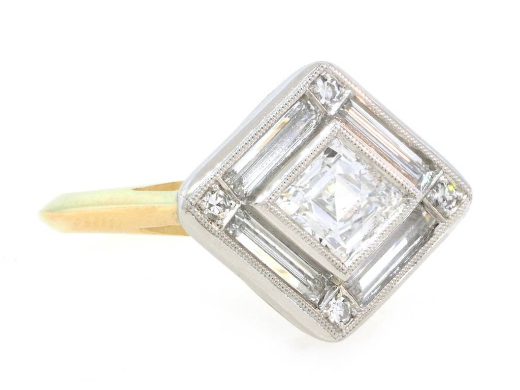 Trabert Goldsmiths Kite Diamond Supernova Ring