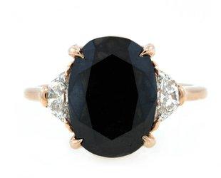 Trabert Goldsmiths 5.71ct Dark Moon Black Diamond Ring E1598