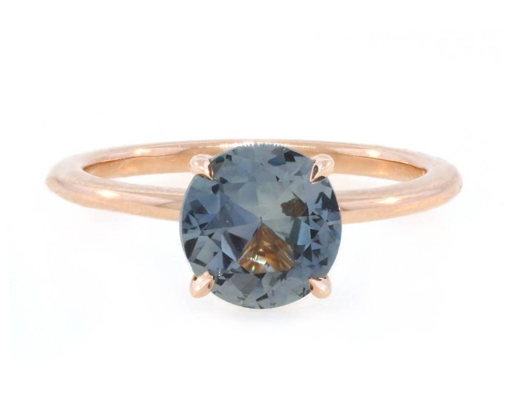 Trabert Goldsmiths 1.96ct Montana Sapphire Aura Ring
