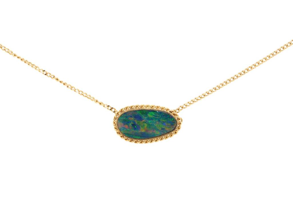 Amali Small Pebble Opal Necklace