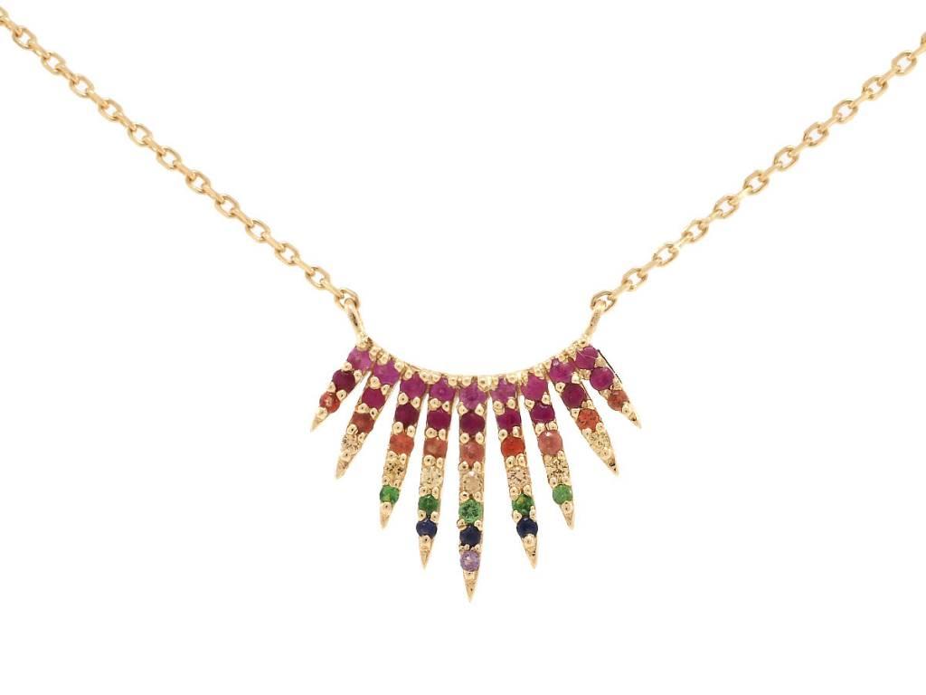 Celine Daoust Multi Sapphire Bib Pendant