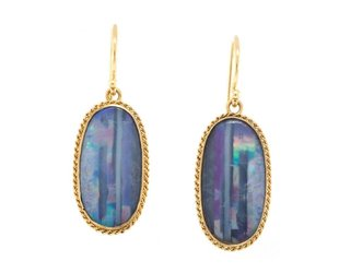 Amali Powder Blue Opal Earrings AM3