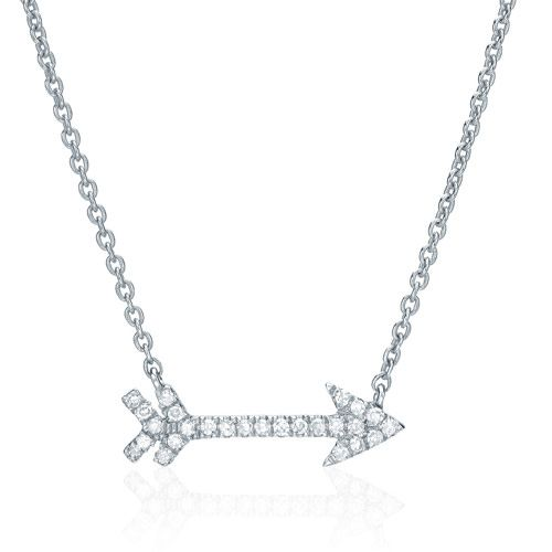 Liven Diamond Pave Arrow Necklace