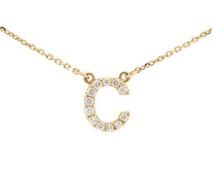 Trabert Goldsmiths Diamond Pave 'C' Necklace E1475