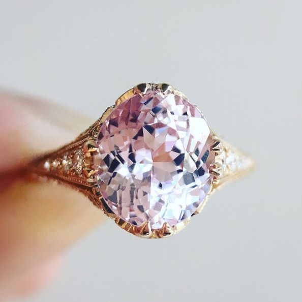 19 Pink Engagement Rings So Pretty, They'll Make You Blush