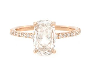 Trabert Goldsmiths 1.08ct DVS2 Rose Cut Dia Polaris Ring E1615