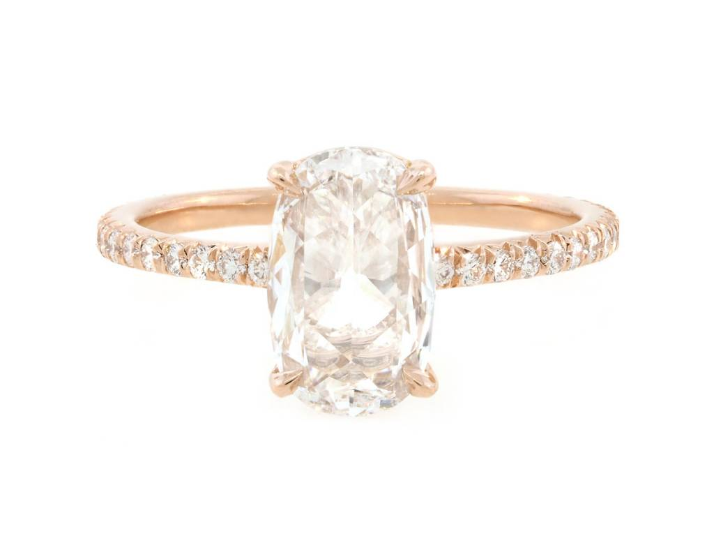 Trabert Goldsmiths 1.08ct DVS2 Rose Cut Diamond Polaris Ring