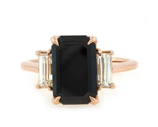 Trabert Goldsmiths 2.80ct Dark Star Black Diamond Ring E1595