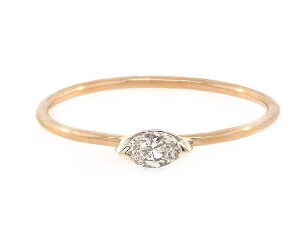 Trabert Goldsmiths Mini Marquise Diamond Ring