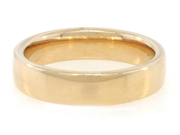 Trabert Goldsmiths 5mm Half Round Yellow Gold Band