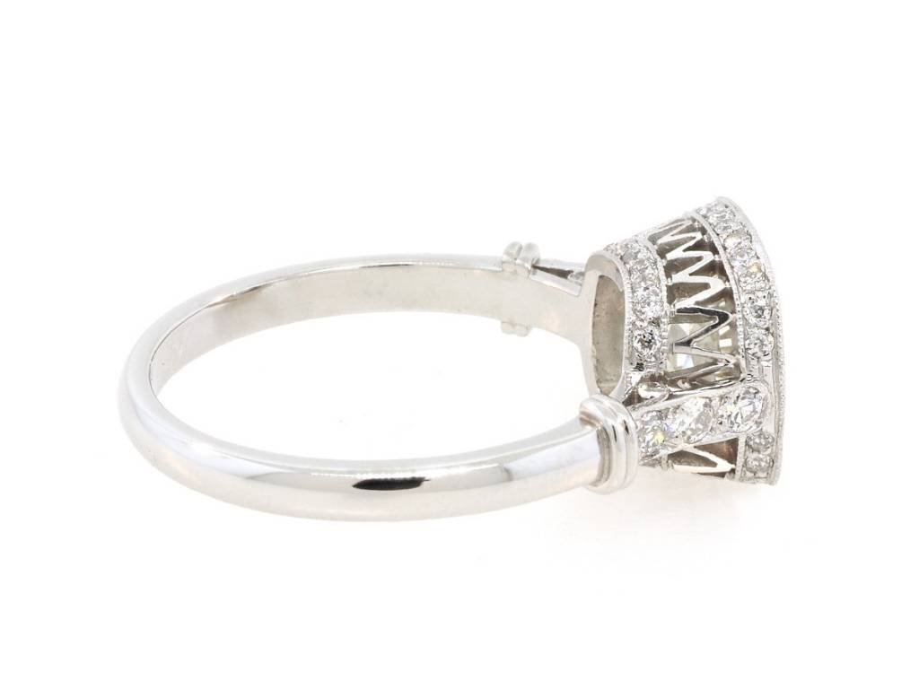 Single Stone 1.83ct MI1 Old European Cut Diamond Colette Ring