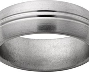 Jewelry Innovations Titanium Band with 2 Center Grooves JI35