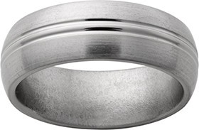 Jewelry Innovations Titanium Band with 2 Center Grooves
