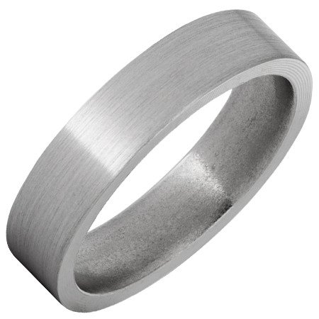 Jewelry Innovations Titanium Flat Top Band