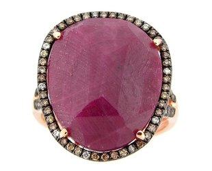Dilamani Rose Cut Ruby Ring DL2