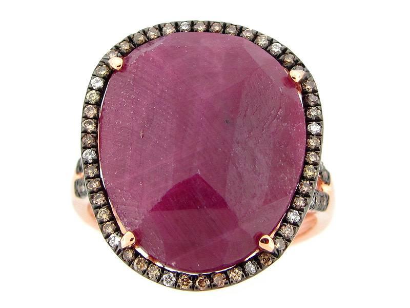 Dilamani Rose Cut Ruby & Diamond Ring