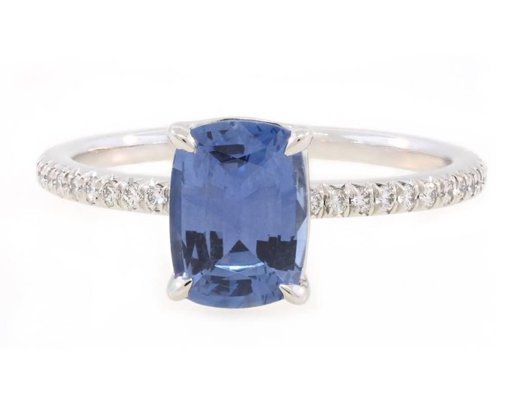 Trabert Goldsmiths 1.50ct Sapphire Cushion Cut Ring