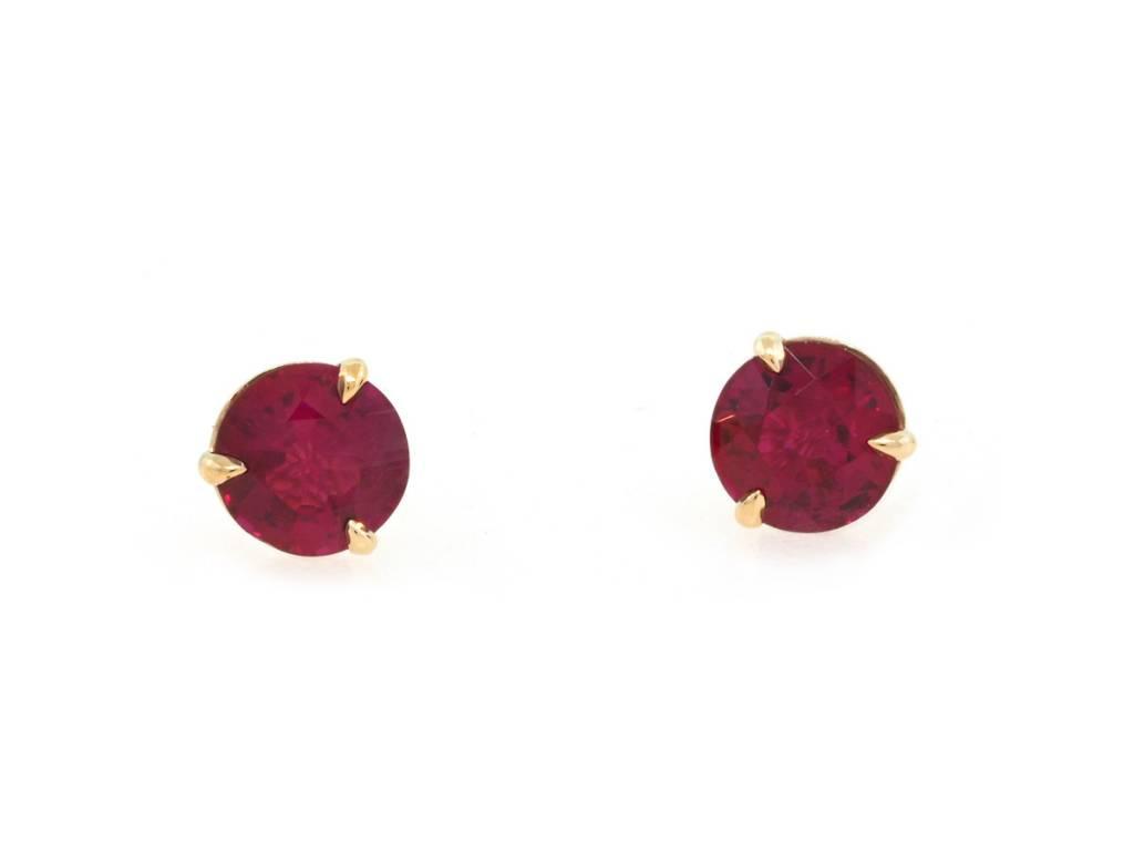 Trabert Goldsmiths 1.20ct Ruby Stud Earrings