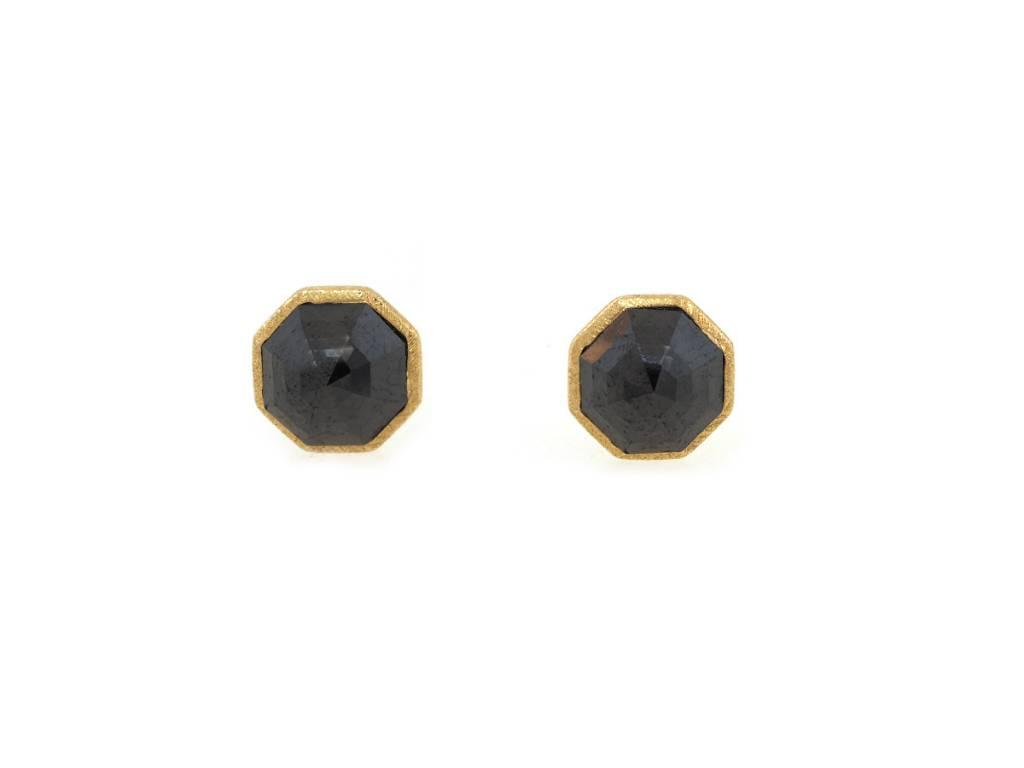 Dilamani Black Diamond Octagon Earrings