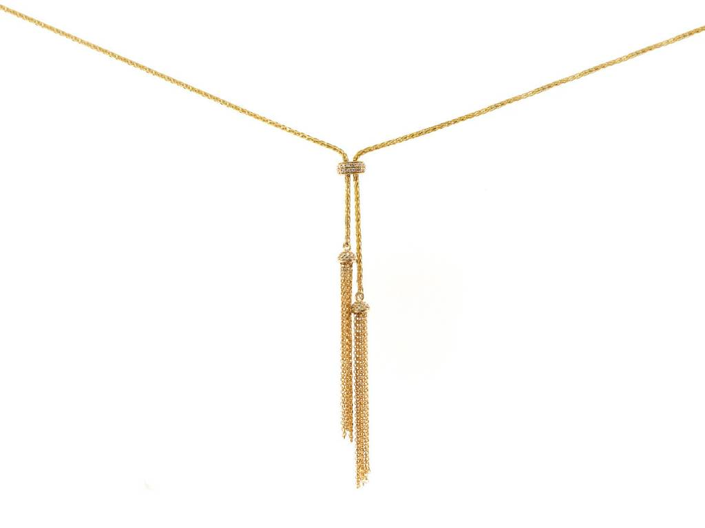 Dilamani Diamond and Gold Bolo Necklace