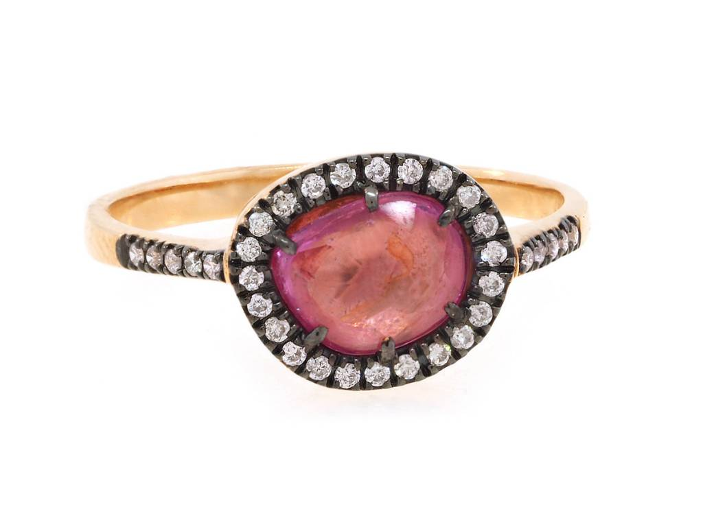 Dilamani Pink Sapphire and Diamond Ring