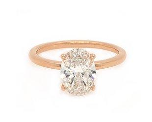 Trabert Goldsmiths 1.58ct FSI1 Oval Diamond Aura Ring E1650