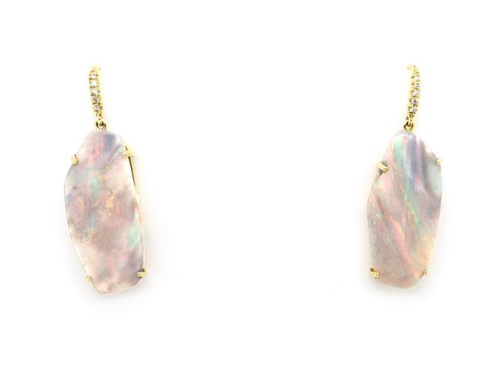 Lauren K Boulder Opal Drop Earrings LK31