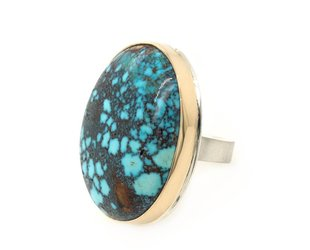 Jamie Joseph Jewelry Designs Mountain Turquoise Statement Ring JD119