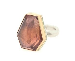Jamie Joseph Jewelry Designs Geometric Pink Sapphire Ring JD120