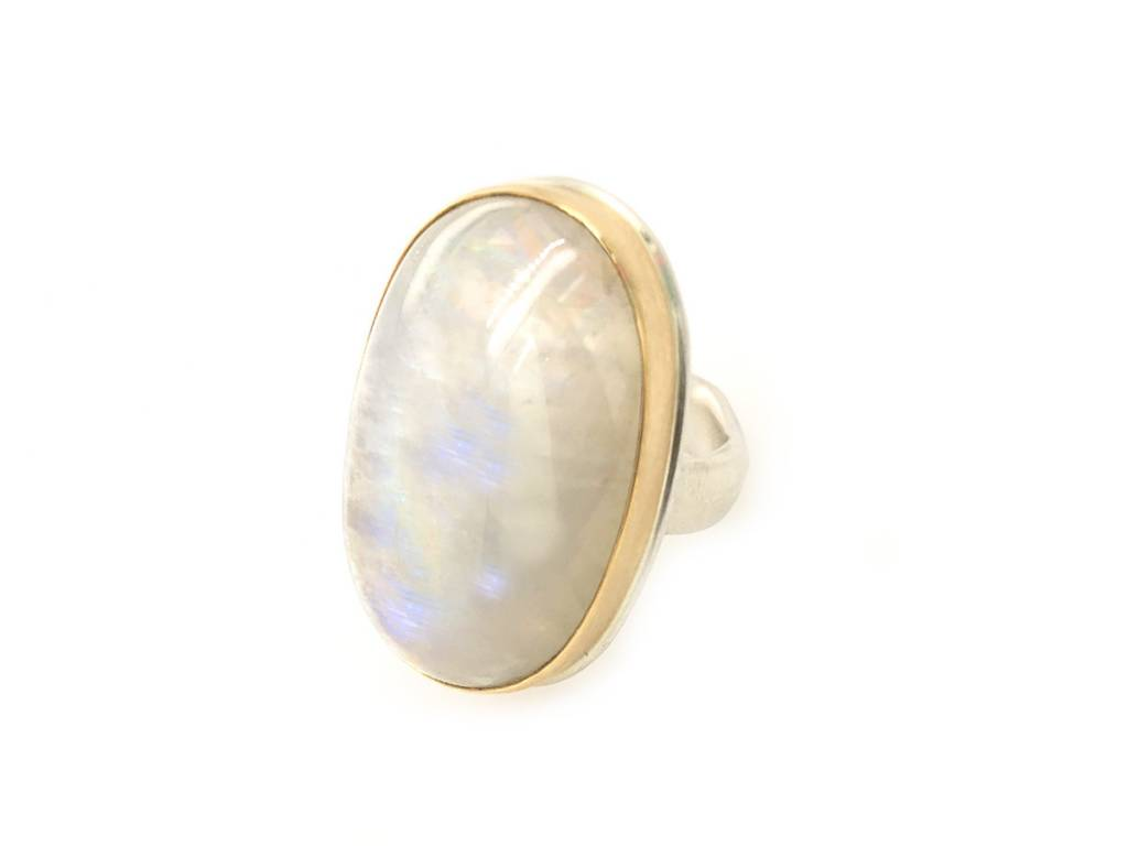 Jamie Joseph Jewelry Designs Large Oval Rainbow Moonstone Ring