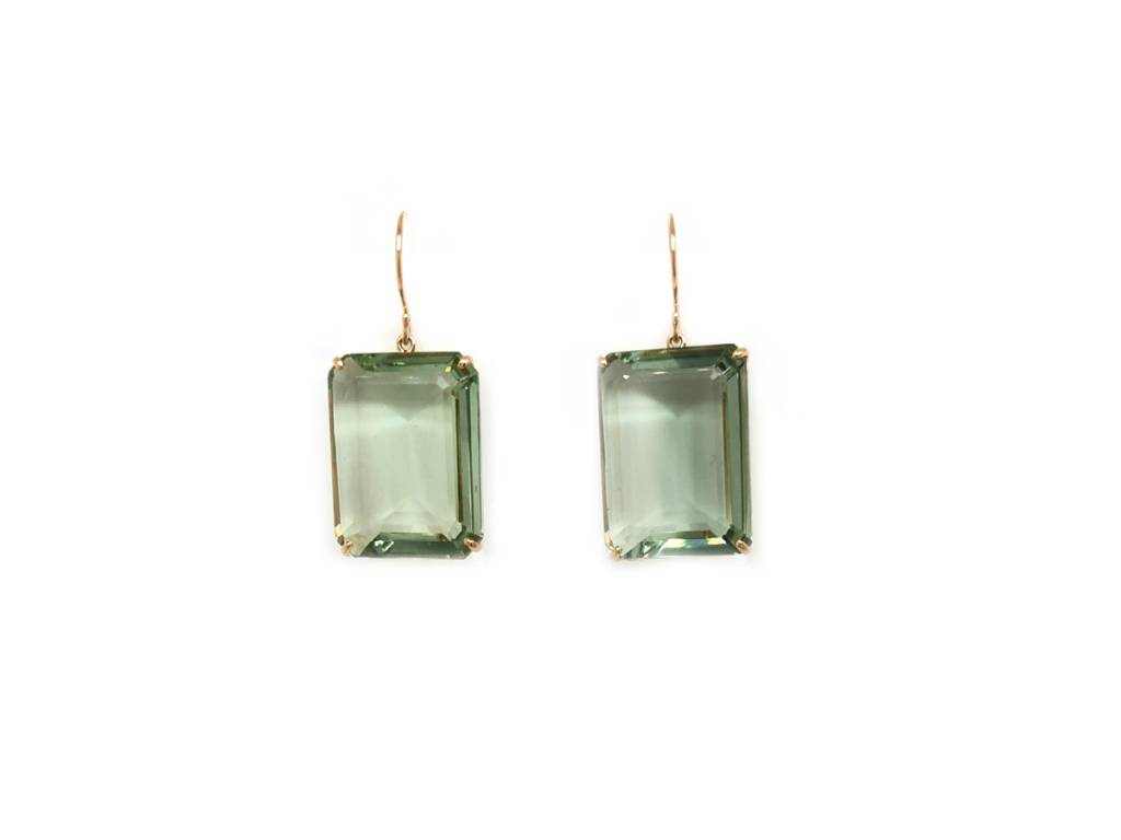Jamie Joseph Jewelry Designs Emerald Cut Mint Quartz Earrings