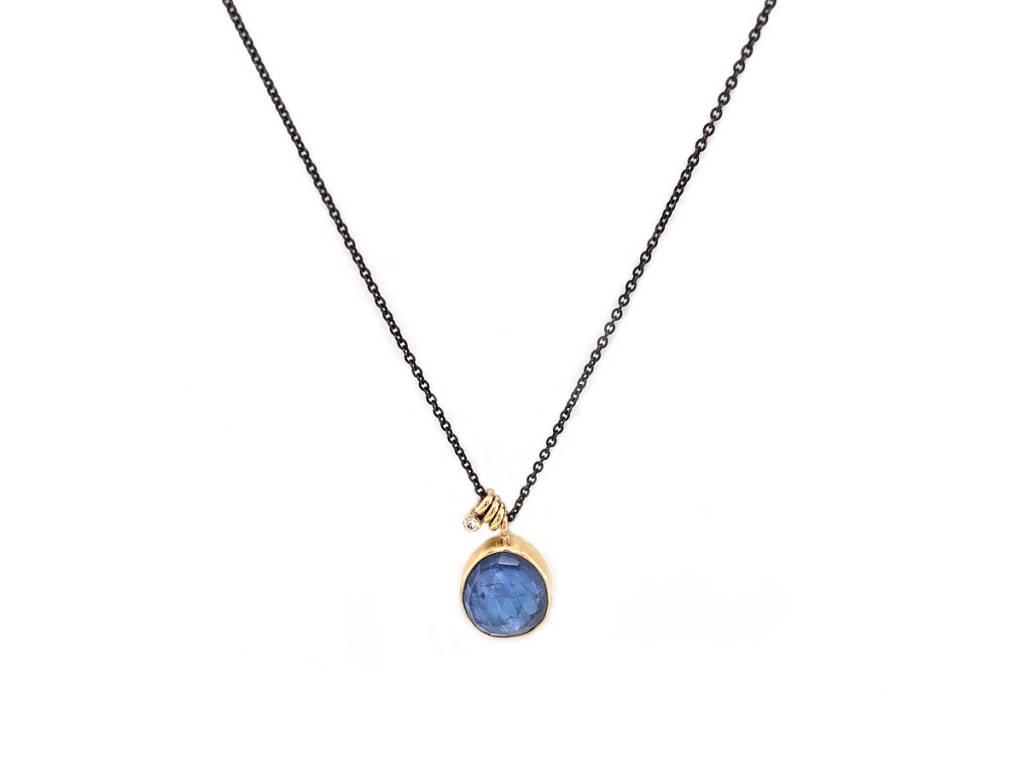 Jamie Joseph Jewelry Designs Oval Rose Cut Tanzanite Necklace