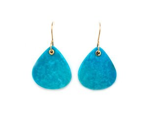 Jamie Joseph Jewelry Designs Lotus Kingman Turquoise Drop Earrings JD128