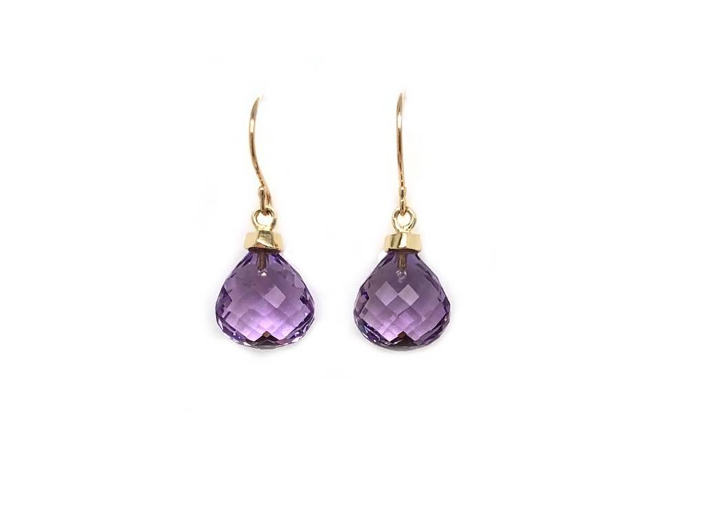 Jamie Joseph Jewelry Designs Amethyst Droplet Earrings