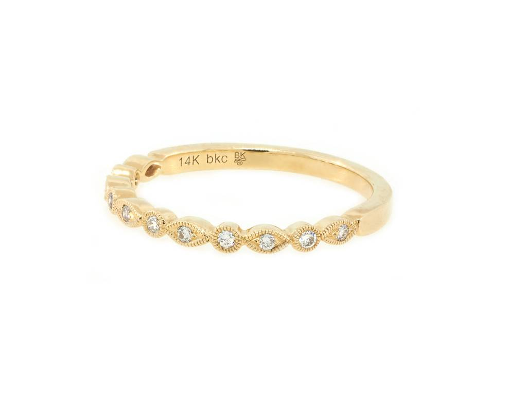 Beverley K Collection Petite Mixed Patterned Diamond Band AB463