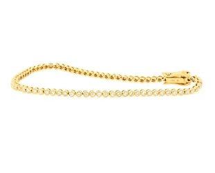 Beverley K Collection Bezel Diamond Gold Tennis Bracelet AB464