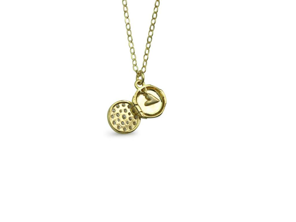 ILA Zerrah Mini Pave Diamond Locket