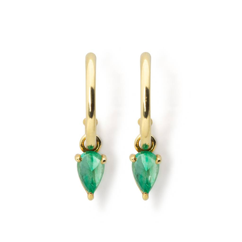 ILA 0.40ct Kinsley Emerald Drop Earrings
