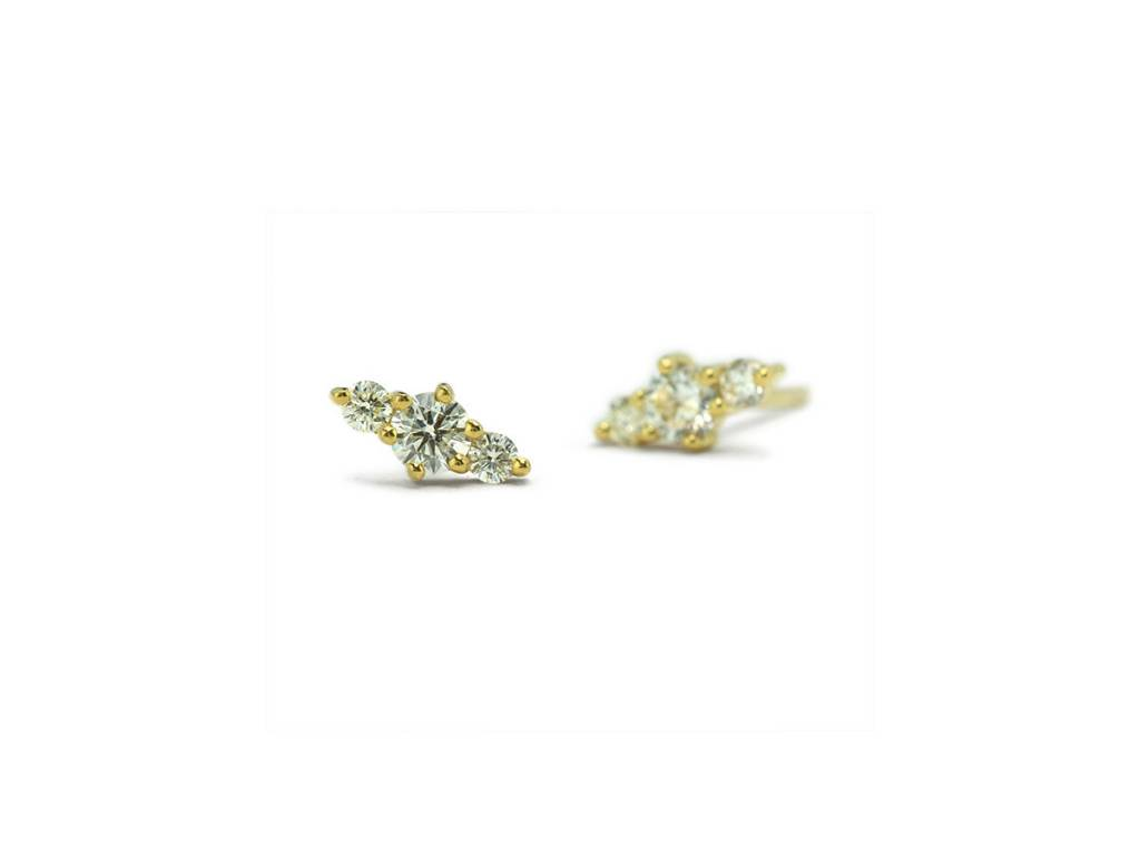 ILA 0.24ct Hanley Triple Diamond Studs