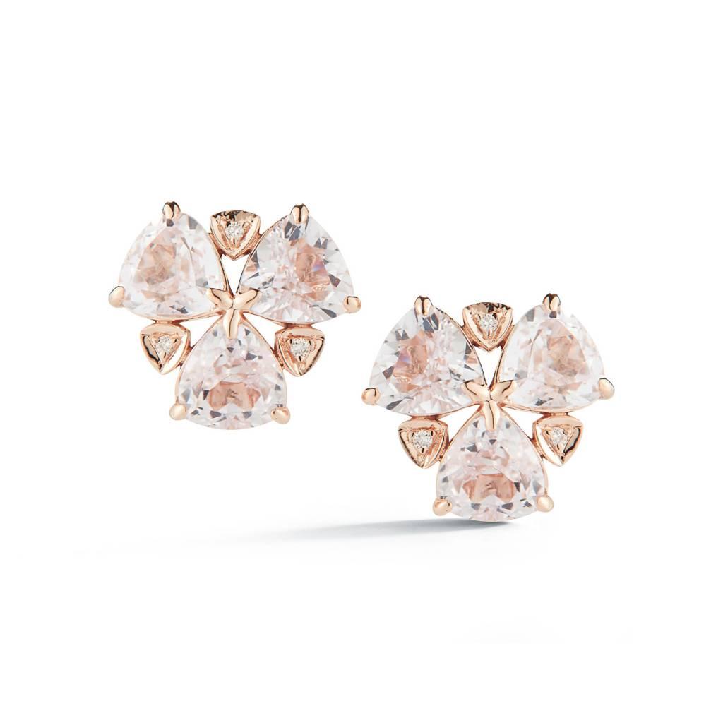 Dana Rebecca Kunzite and Diamond Stud Earrings