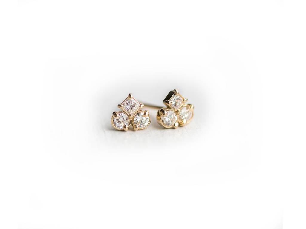 Melanie Casey Mosaic Petite Dia Cluster Earrings