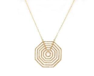Trabert Goldsmiths Concentric Octagonal Diamond Necklace E1691