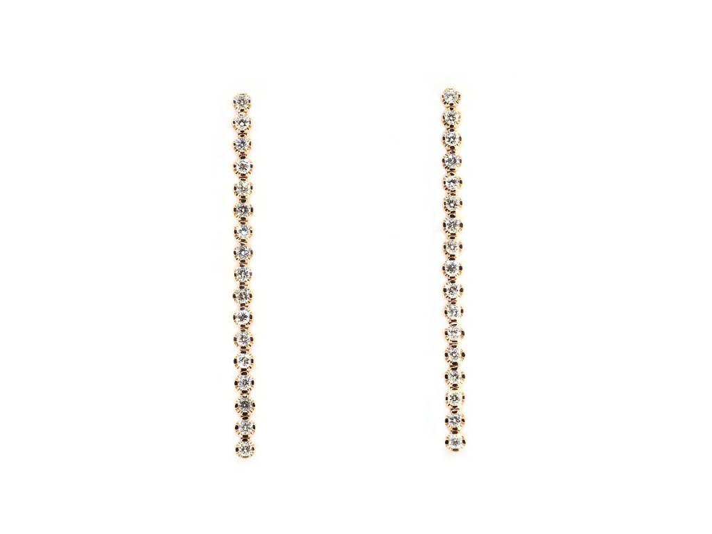 Trabert Goldsmiths Long Diamond Drop Earrings