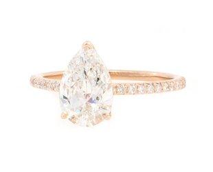 Trabert Goldsmiths 1.50ct GSI1 Pear Cut Diamond Aura Ring E1705